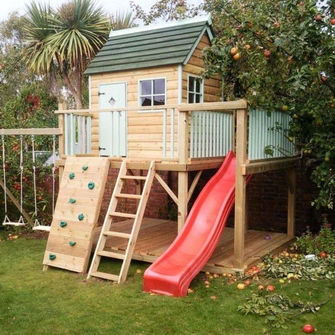 Игровой домик на дереве для детей своими руками 985