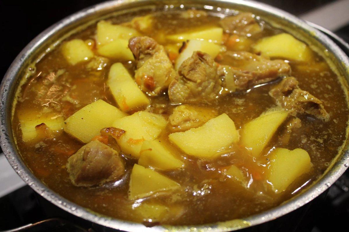 Тушеная картошка с мясом пошаговый рецепт с фото