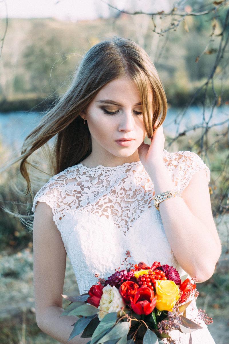 Макияж на свадьбу рустик