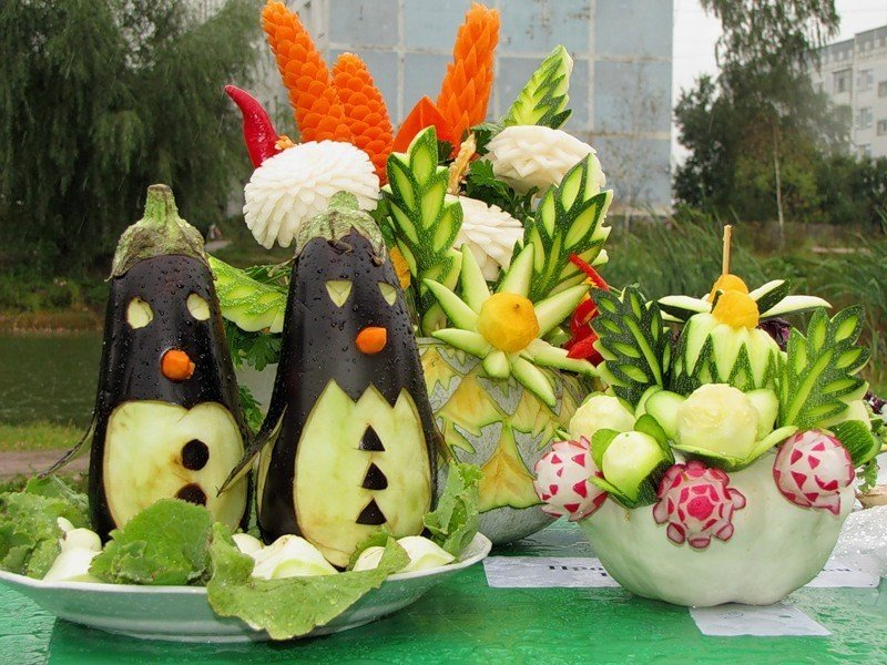 Поделки из овощей фото мастер класс