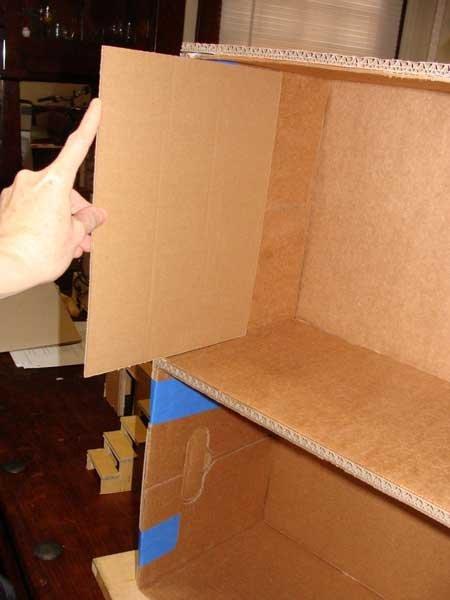 Домик из коробок своими руками мебель 379
