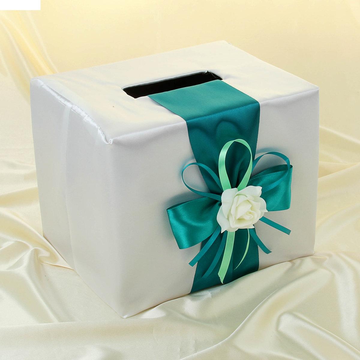 Украсить свадебную коробку для денег своими руками 52