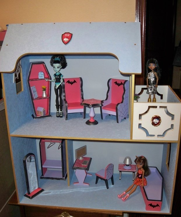 Кукольный домик своими руками для монстр хай 68