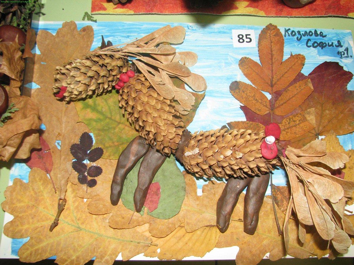 Простые поделки из природного материала на тему осень своими руками 14