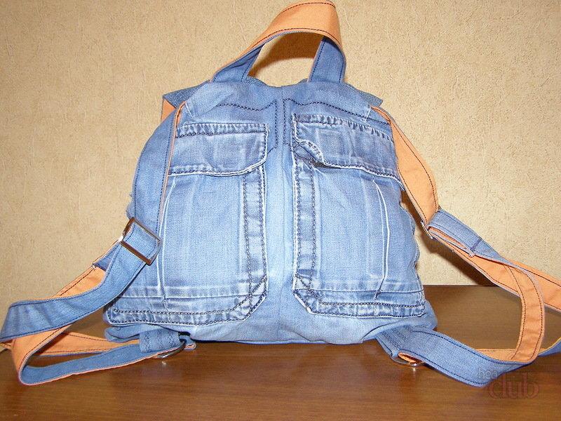 Сшить рюкзак из джинсов своими 103