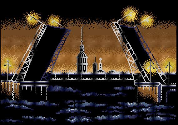 Схема вышивки ночной город 97