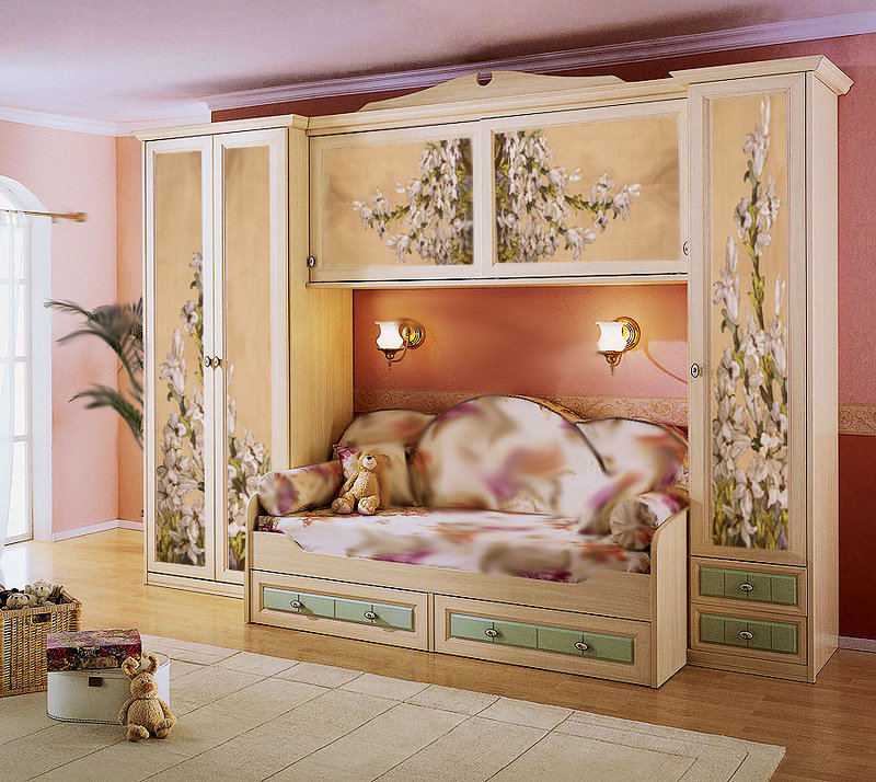 Декупаж старой кровати для девочки своими руками 67