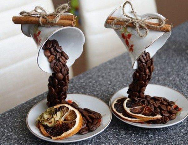 Поделки из кофе с кружками