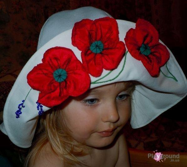 Головные летние уборы для девочек своими руками 13