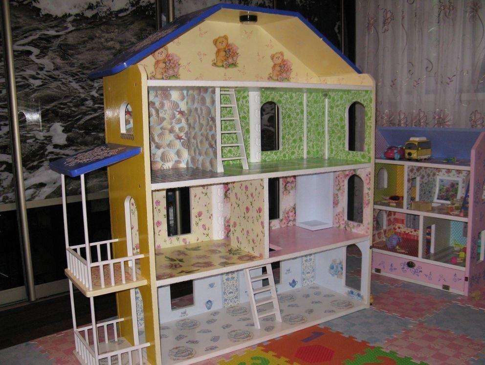 Как сделать домик для куклы в детской 340