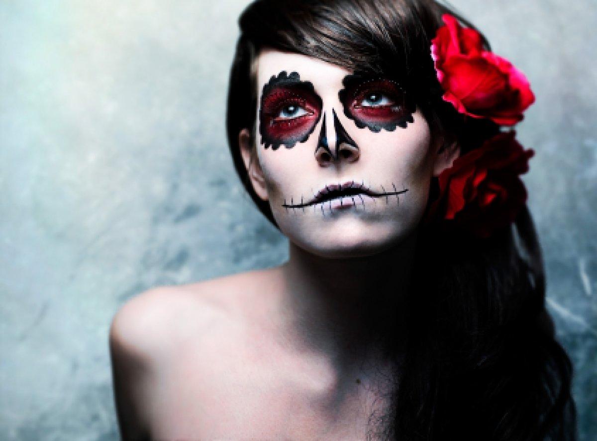 Фото макияжа на хэллоуин для девочек