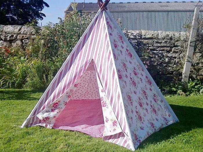Как сделать палатку на улице своими руками 79