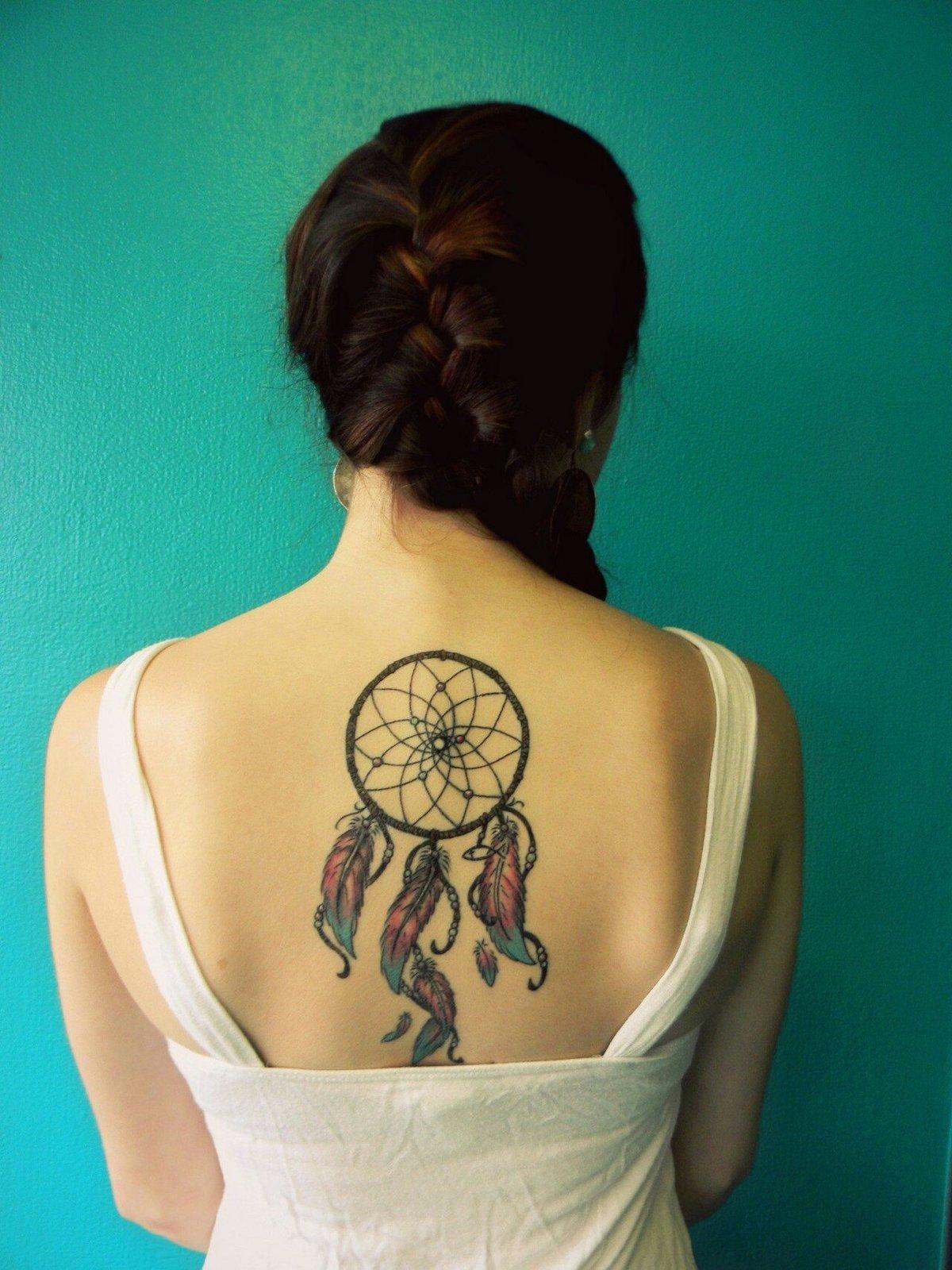 Татуировка для девушек ловец снов с фото