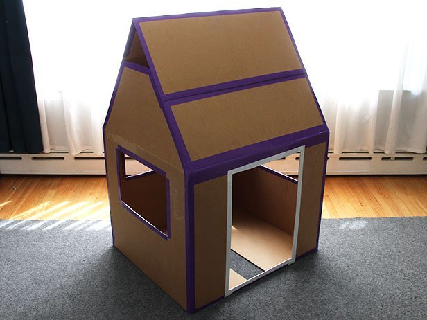 Как сделать домик для ребенка своими руками фото из картона