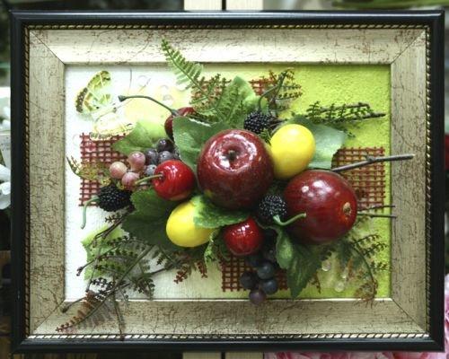 494Как сделать картину из искусственных фруктов своими руками