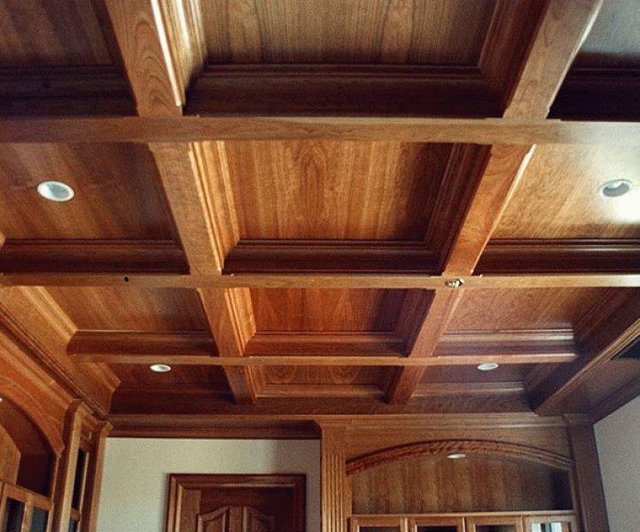 Деревянные потолки с балками своими руками