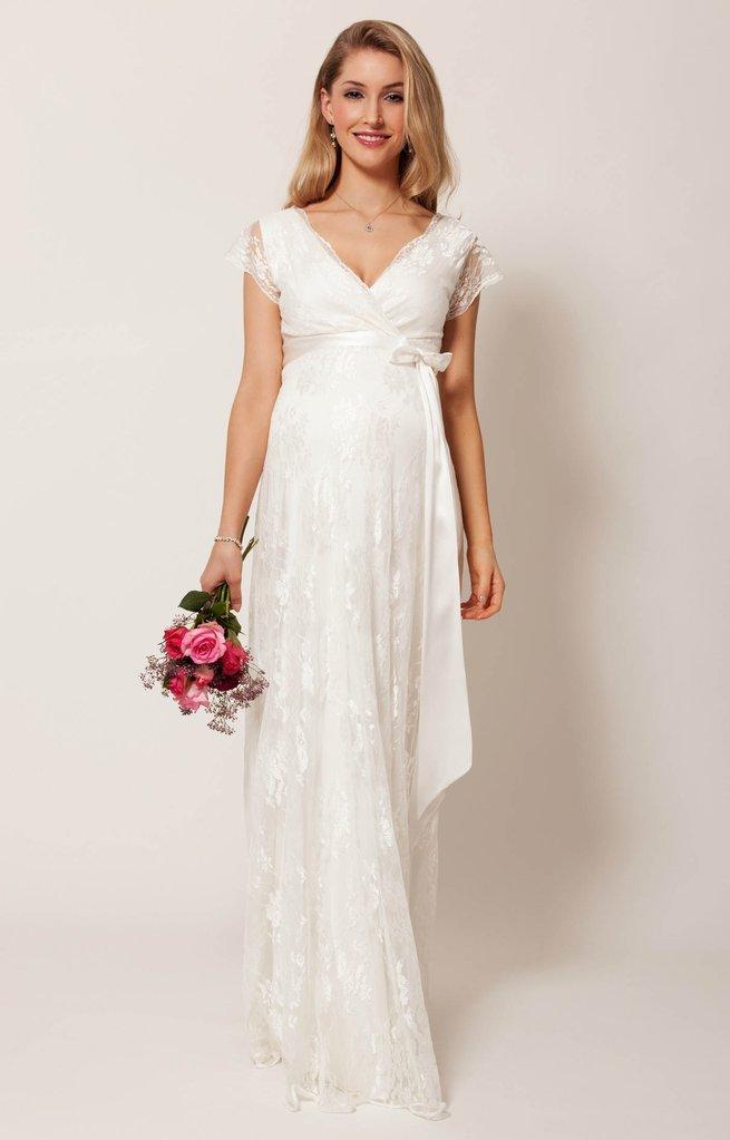 Свадебное платье для беременных буду мамой 5
