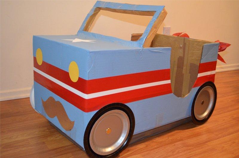 Поделки для детей машинка из картона