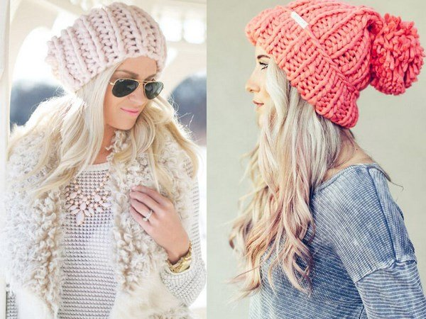 Шапка связать модную шапку