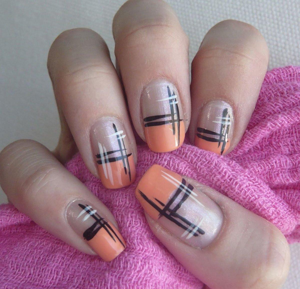Графические рисунки на ногтях фото новинки