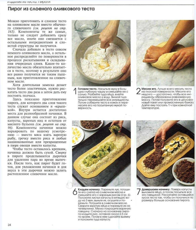 Рецепт слоеного теста в домашних
