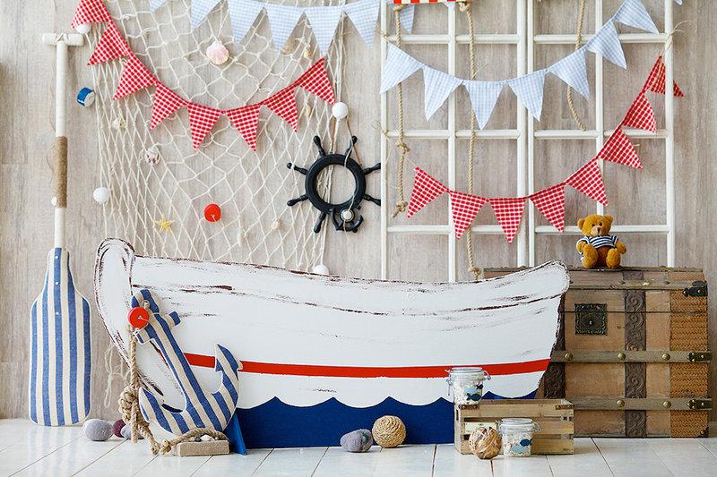 Как украсить детскую в морском стиле своими руками
