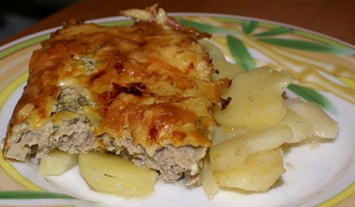 Мясо по-французски с курицей с картошкой в мультиварке рецепт с фото