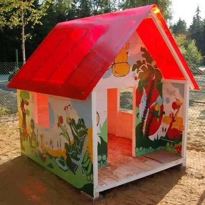 Детский домик своими руками из поликарбоната 56