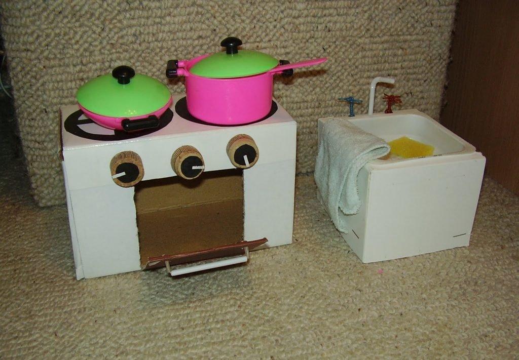 Печка для кукольного домика своими руками 37