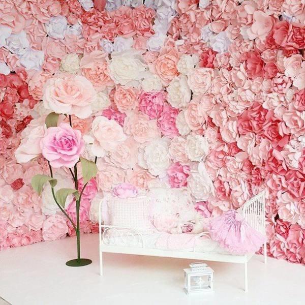 Фотозона бумажные цветы