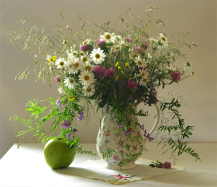 Фото полевые цветы букеты и композиции