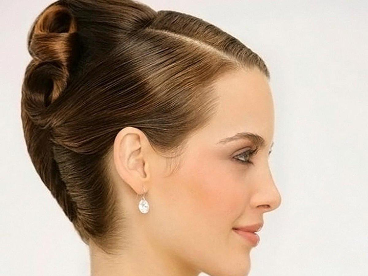 Деловая прическа из длинных волос фото