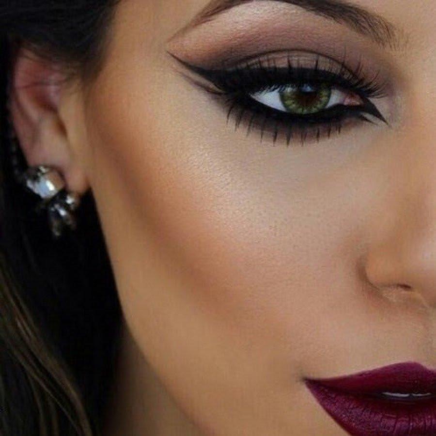 макияж чёрными тенями фото