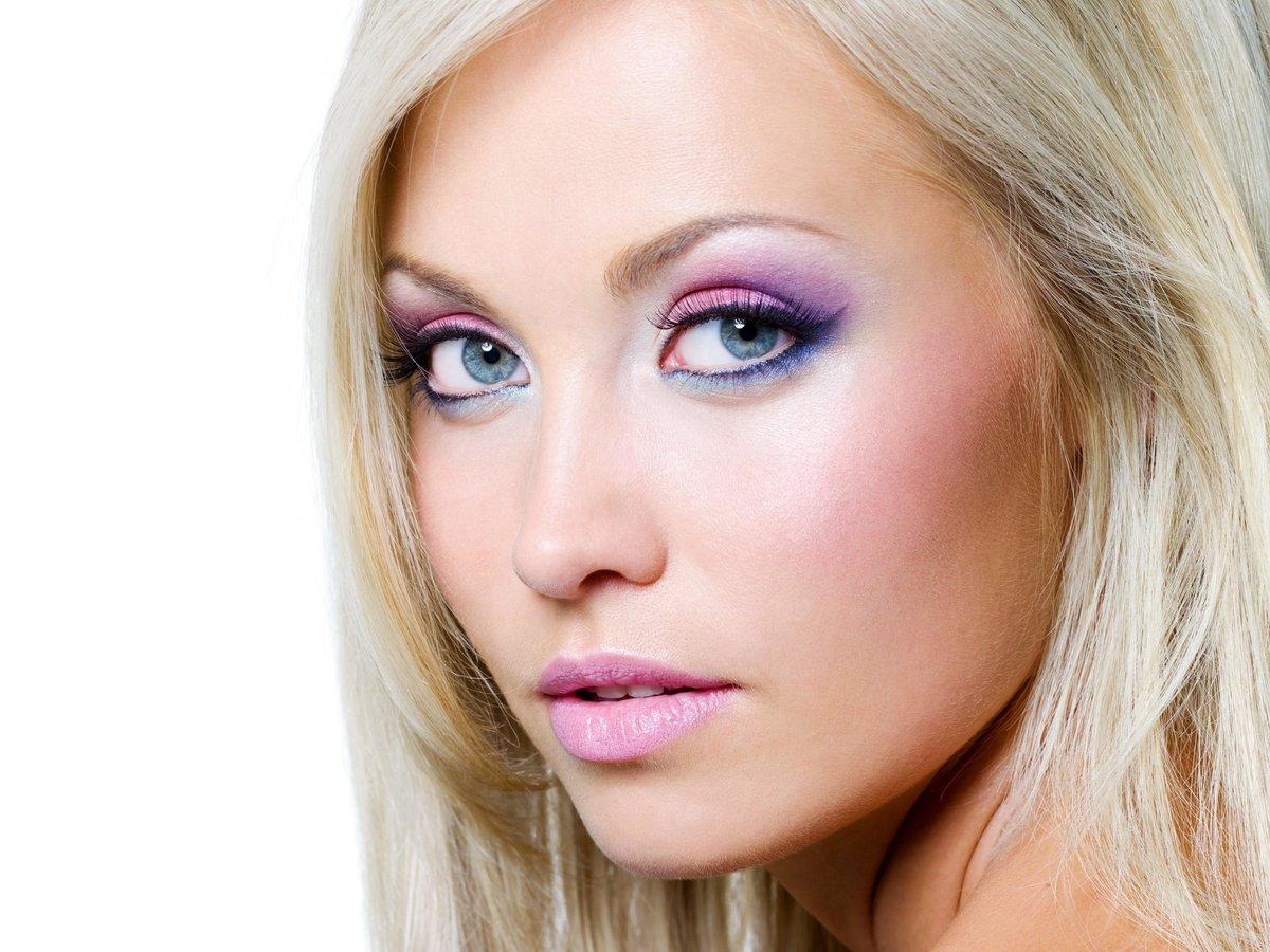 Дневной макияж глаз: на фото варианты для голубых