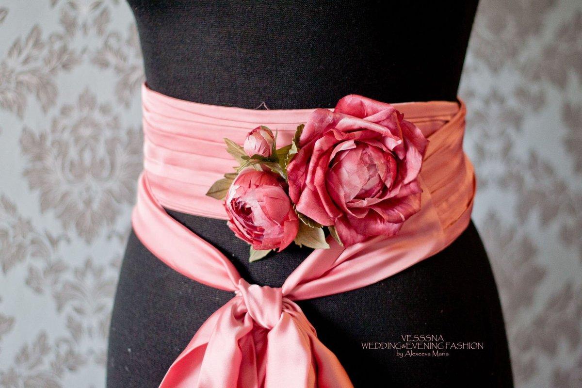 Красивые цветы на платье своими руками 27