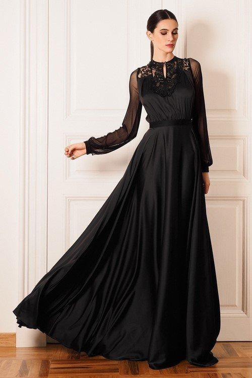 Платье черное вечернее 2017