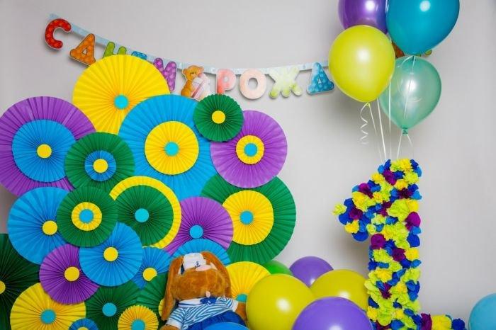 Украшения ко дню рождения своими руками 75