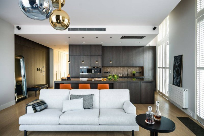 Интерьер квартиры -студии (92 фото выбираем дизайн однокомнатной квартиры)