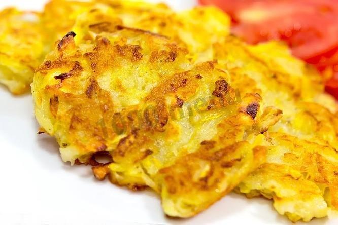 Драники из кабачков и картошки рецепт с пошагово на сковороде