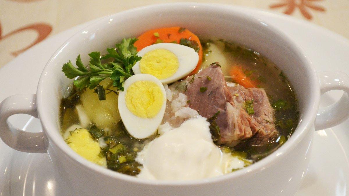 Щавельный суп с курицей пошаговый рецепт
