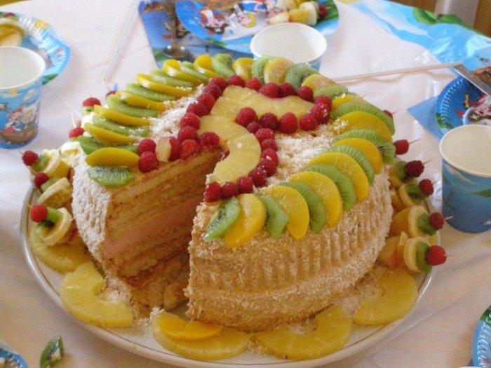Украшаем торт своими руками фрукты 62