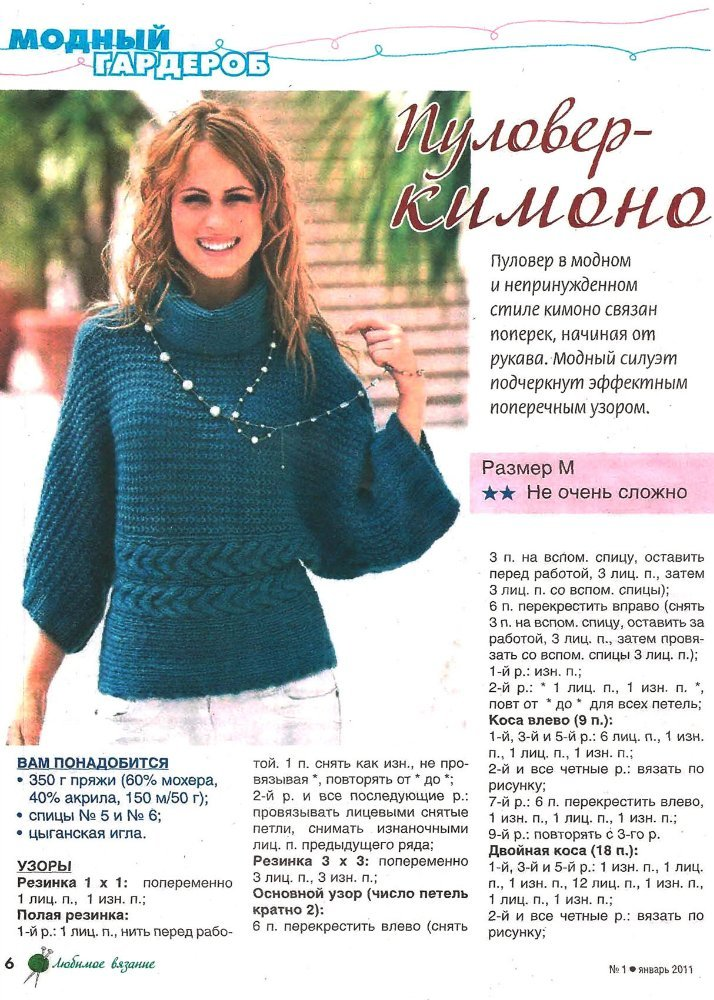 Стильное вязание для женщин спицами с описанием 60