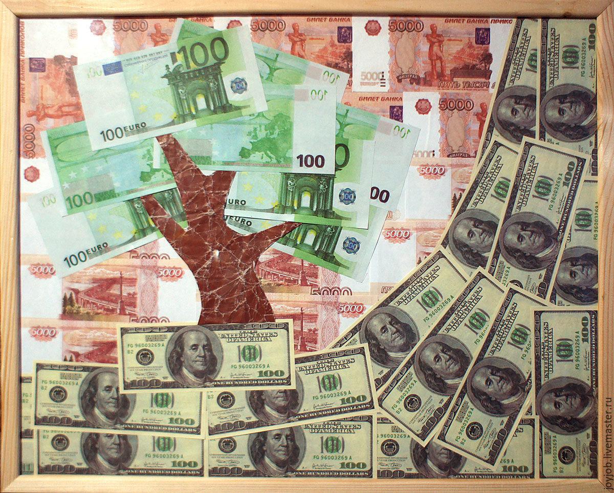 Деньги под стеклом в рамке подарок 29