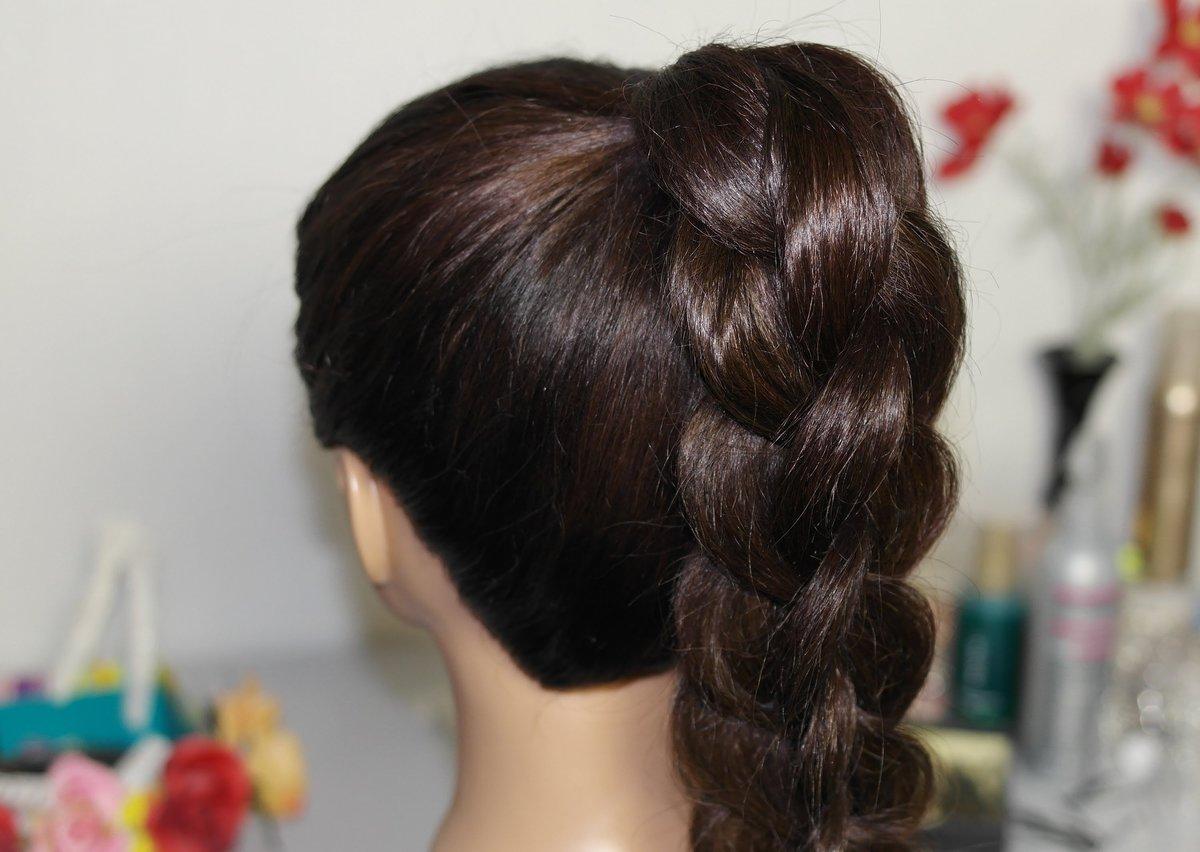 Фото причесок из кос своими руками