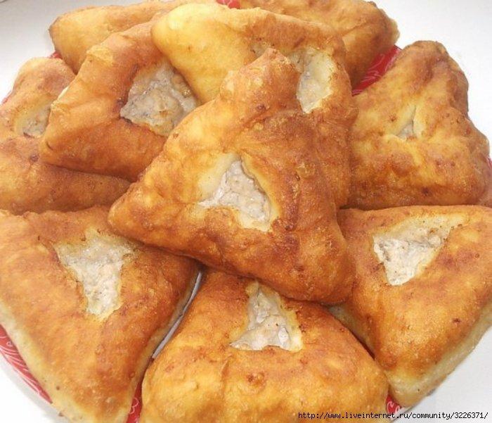 Рецепт треугольных беляшей с мясом домашние 132