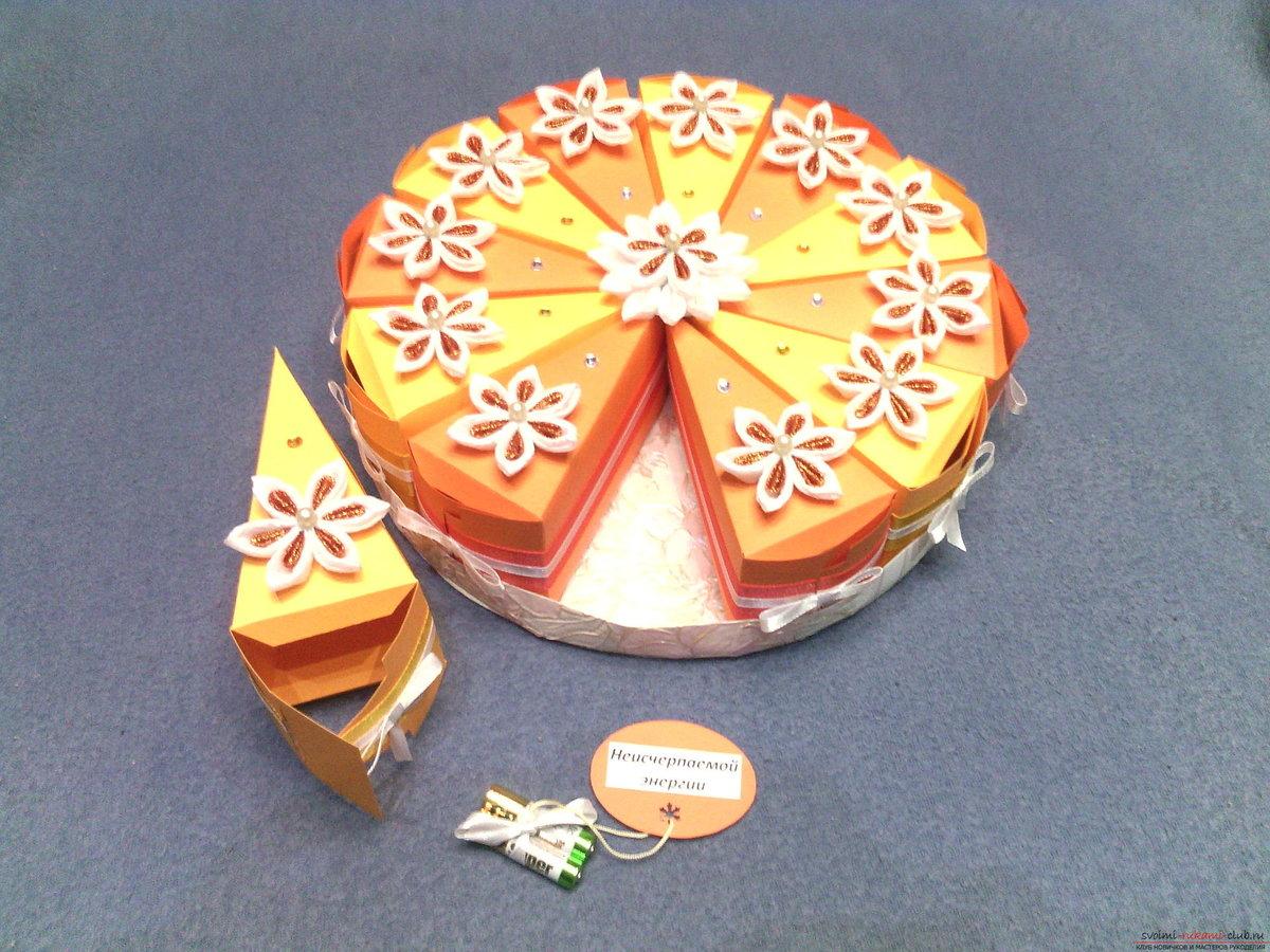 Как сделать подарок торт с пожеланиями 84