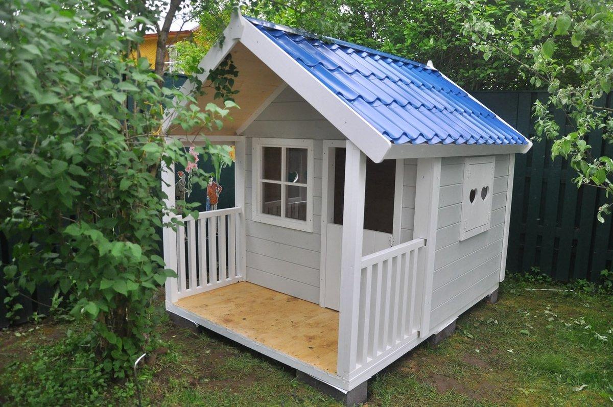 Проекты детских деревянных домиков 11