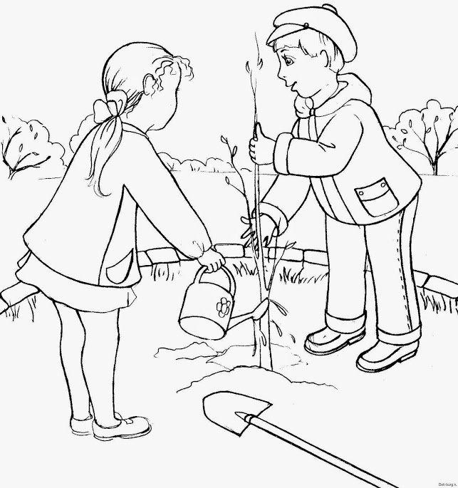 Дети сажают деревья картинки 36