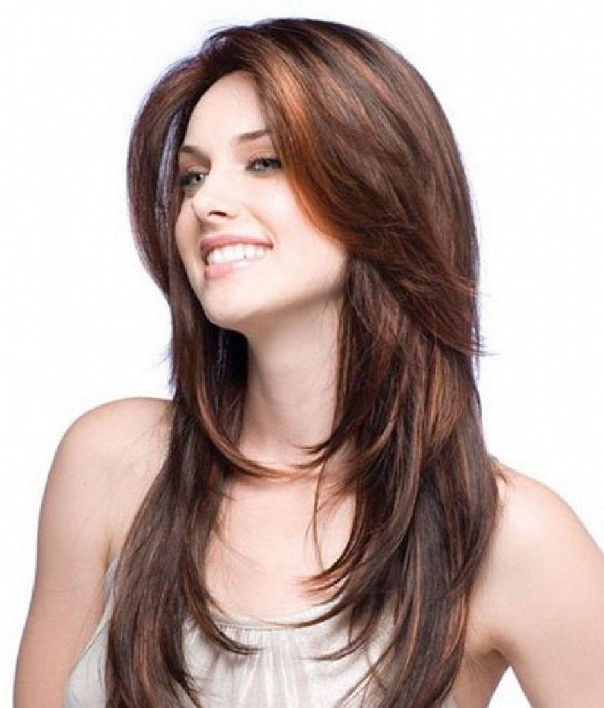 Причёски для длинных волос без чёлки фото