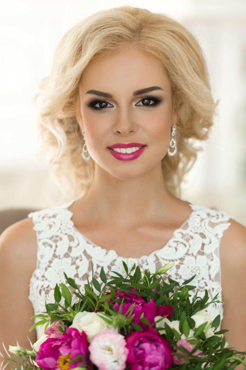 Свадебный макияж для блондинок с фото 90